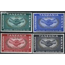 4 عدد تمبر سال بین المللی همکاری - آفریقای شرقی 1965