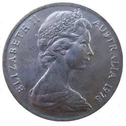 سکه 10 سنت - نیکل مس - استرالیا 1978 غیر بانکی