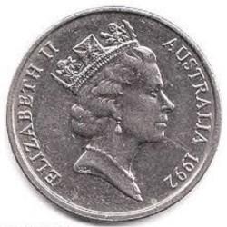 سکه 10 سنت - نیکل مس - استرالیا 1992 غیر بانکی