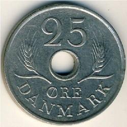 سکه 25 اور- مس نیکل -دانمارک 1972غیر بانکی