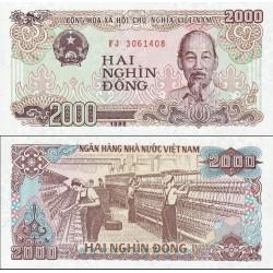 اسکناس 2000 دونگ - ویتنام 1988