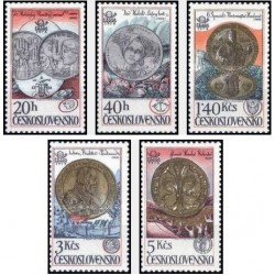 5 عدد تمبر نمایشگاه بین المللی تمبر پراگا - سکه ها - چک اسلواکی 1978