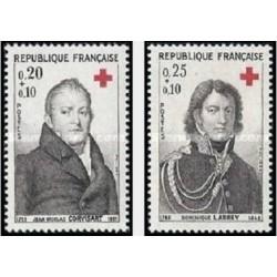 2 عدد تمبر صلیب سرخ - فرانسه 1964