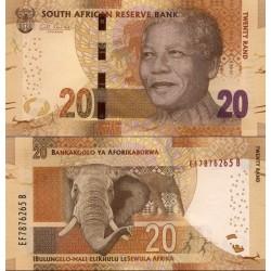 اسکناس 20 رند - تصویر نلسون ماندلا - آفریقای جنوبی 2013