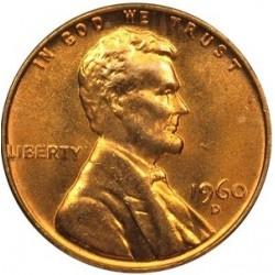 سکه 1 سنت - برنجی - آمریکا 1960غیر بانکی