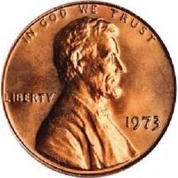 سکه 1 سنت - برنجی - آمریکا 1973غیر بانکی