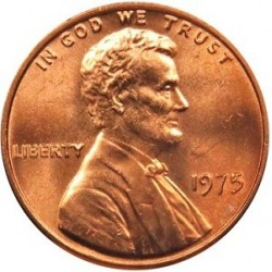 سکه 1 سنت - برنجی - آمریکا 1975غیر بانکی