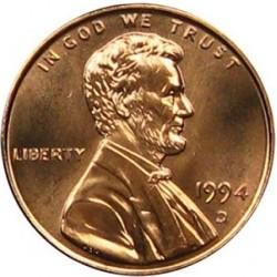 سکه 1 سنت - برنجی - آمریکا 1994غیر بانکی