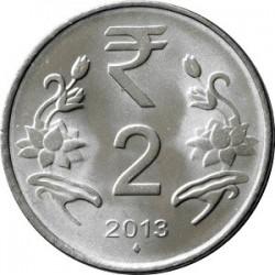 سکه 2 روپیه - فولاد ضد زنگ - هندوستان 2015 غیر بانکی