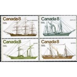 4 عدد تمبر کشتیهای کانادائی - 1 - کانادا 1975