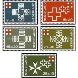 5 عدد تمبر صدمین سال صلیب سرخ - هلند 1967