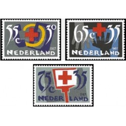 3 عدد تمبر صلیب سرخ - هلند 1987
