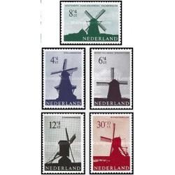 5 عدد تمبر آسیابهای بادی -تمبر خیریه - هلند 1963  با شارنیه - قیمت 8.2 دلار