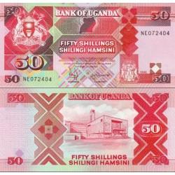 اسکناس 50 شلینگ - اوگاندا 1998