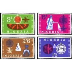 4 عدد تمبر ریشه کنی مالاریا - نیجریه 1962