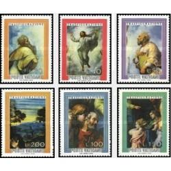 6 عدد تمبر تابلو نقاشی اثر رافائل - واتیکان 1976