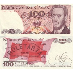 اسکناس 100 زلوتیچ - لهستان 1986