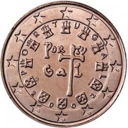 سکه 1 سنت یورو - مس روکش فولاد - پرتغال 2002 غیر بانکی