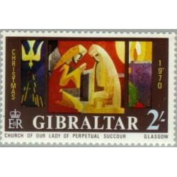 1 عدد تمبر و کریستمس - جبل الطارق 1970