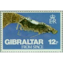 1 عدد تمبر نمای جبل الطارق از فضا - جبل الطارق 1978