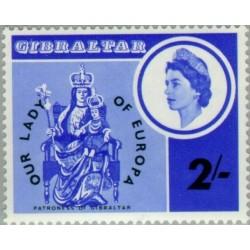 1 عدد تمبر سده تاجگذاری بانوی اروپا - جبل الطارق 1966