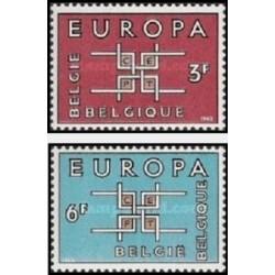 2 عدد تمبر مشترک اروپا - Europa Cept - بلژیک 1963 قیمت 3 دلار