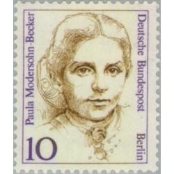 1 عدد تمبر سری پستی زنان نامدار -پائولا مدرسون بکر - نقاش اکسپرسیونیسم -  برلین آلمان 1988