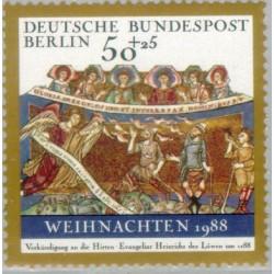 1 عدد تمبر کریستمس - برلین آلمان 1988