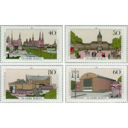 4 عدد تمبر هفتصد و پنجاه سالگی برلین - برلین آلمان 1987