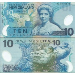 اسکناس پلیمر 10 دلار -  نیوزلند 2007