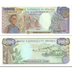 اسکناس 5000 فرانک - رواندا 1988