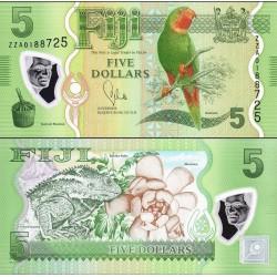 اسکناس پلیمر 5 دلار - فیجی 2012