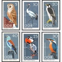 6 عدد تمبر پرندگان حفاظت شده - جمهوری دموکراتیک آلمان 1967 ثیمت 5.3 دلار