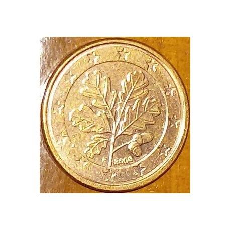 سکه 1 سنت یورو - مس روکش فولاد - اسپانیا 2008 غیر بانکی