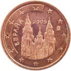 سکه 1 سنت یورو - مس روکش فولاد - اسپانیا 2010 غیر بانکی