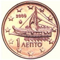 سکه 1 سنت یورو - مس روکش فولاد - یونان 2014 غیر بانکی