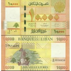 اسکناس 10000 لیر - لبنان 2014