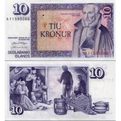اسکناس 10 کرون - ایسلند 1961