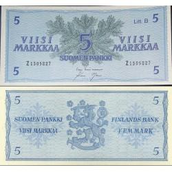 اسکناس 5 مارک - فنلاند 1963