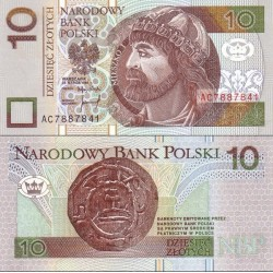 اسکناس 10 زلوتیچ - لهستان 1994