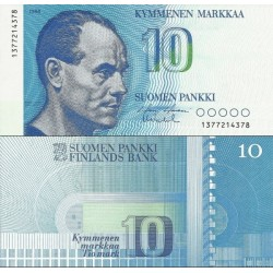 اسکناس 10مارک - فنلاند 1986