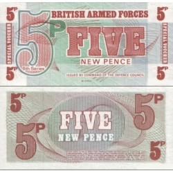 کوپن 10 پنس نیروهای مسلح بریتانیائی - برای مصرف در برلین غربی - سری ششم  - انگلیس 1972
