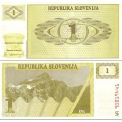 اسکناس 1 تولار - اسلوونی 1990