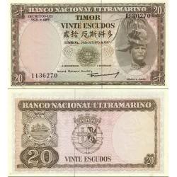 اسکناس 20 اسکودو - تیمور شرقی 1967