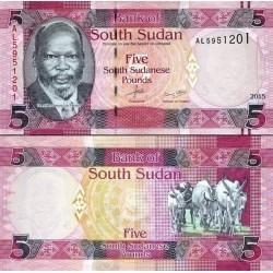 اسکناس 5 پوند - سودان جنوبی 2015
