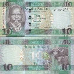 اسکناس 10 پوند - سودان جنوبی 2016