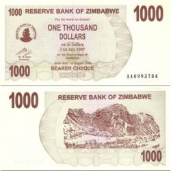 اسکناس 1000 دلار - زیمباوه 2007