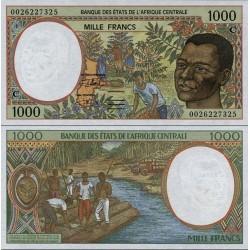 اسکناس 1000 فرانک - کنگو 2000 - آفریقای مرکزی 2000