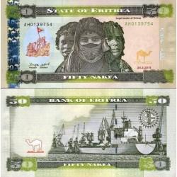 اسکناس 50 ناکفا - اریتره 2011