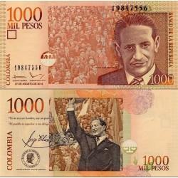 اسکناس 1000 پزو - کلمبیا 2014